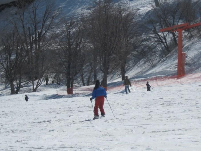 Esquiando em Nevados de Chillan