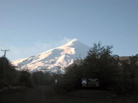 Entrada do Parque Nacional Villarica em Pucón