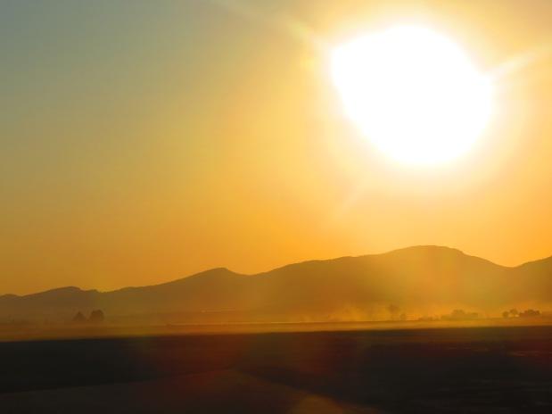E o sol nasce enquanto o balão sobe...
