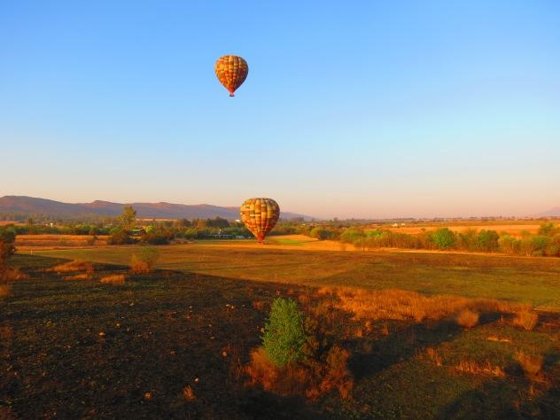 Voo de balão de ar quente em Magaliesburg na África do Sul