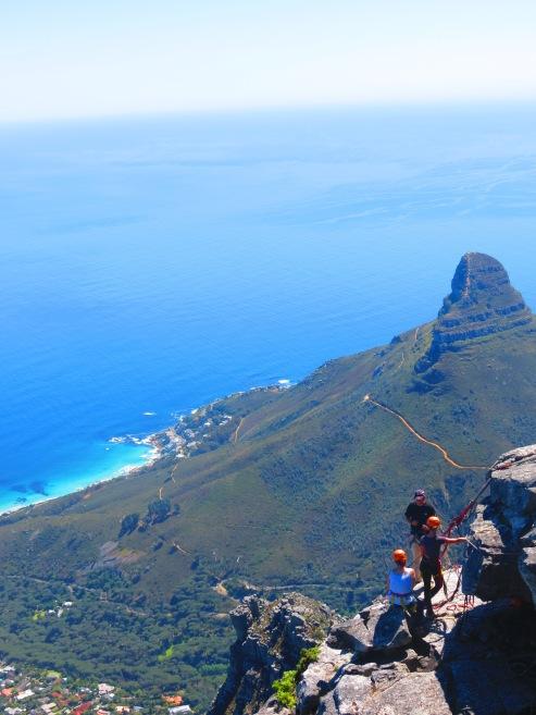 Rapel na Table Mountain