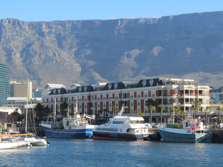 V&A Waterfront com a Table Mountain ao fundo