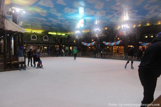 Parque de Neve Pista de Patinação