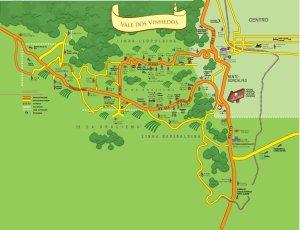 Mapa do Vale dos Vinhedos