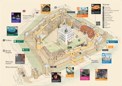 Mapa da Torre de Londres