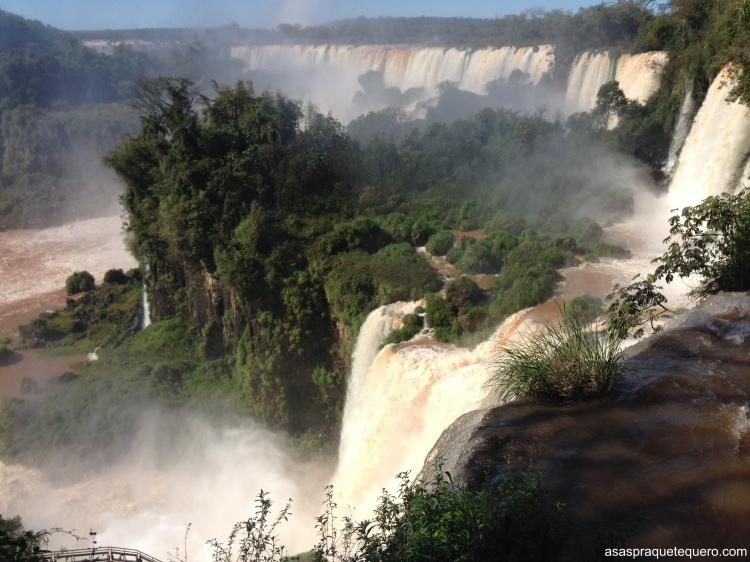Paisagem de um dos mirantes do parque argentino