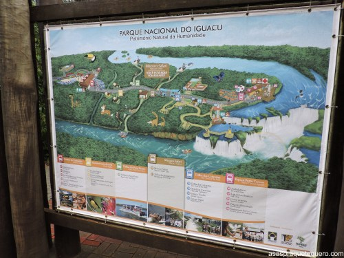 mapa do parque das cataratas